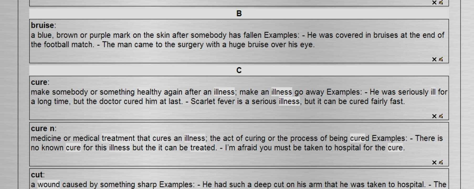 medicine-glossary-moodle