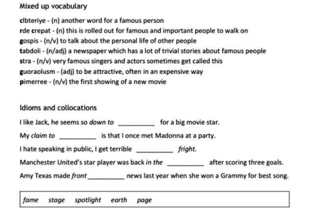 vocab-and-grammar-exer